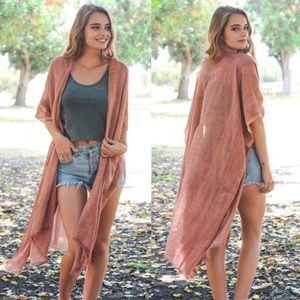 Sweaters - Detailed Long Feminine Kimono
